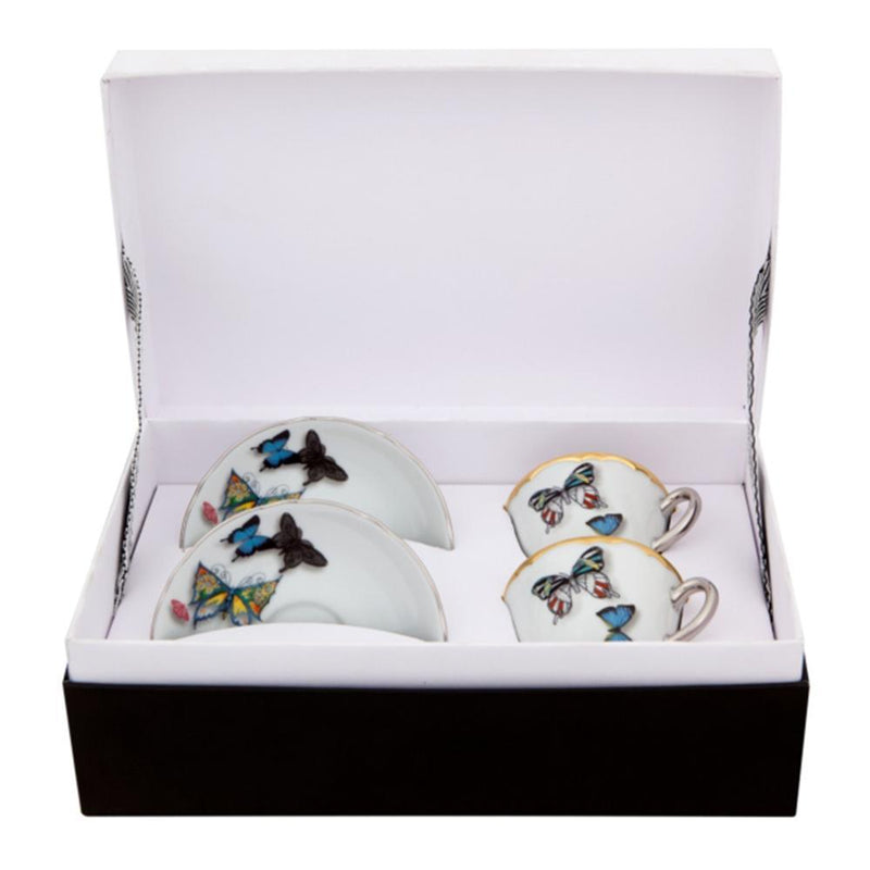Butterfly Parade - Set 2 Coffee Cups & Saucers