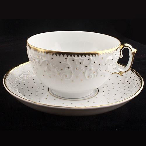 Simply Anna - Polka Gold Tea Saucer