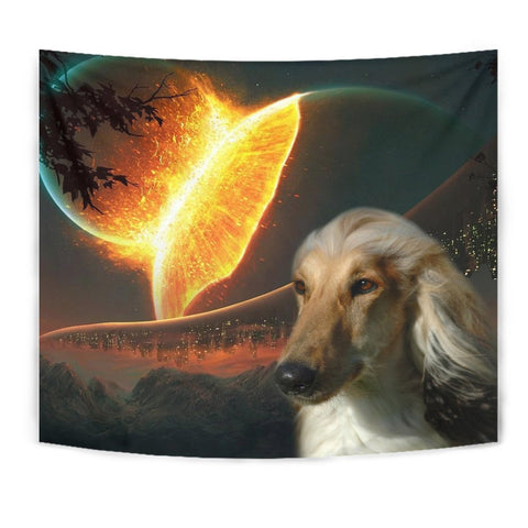 Amazing Afghan Hound Dog Print Tapestry-Free Shipping