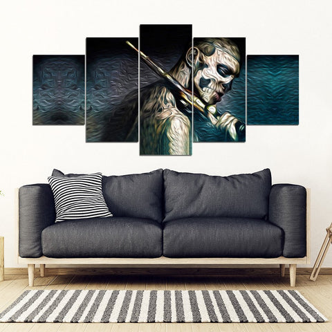 The Gunman Print-5 Piece Framed Canvas- Free Shipping-Paww-Printz-Merchandise