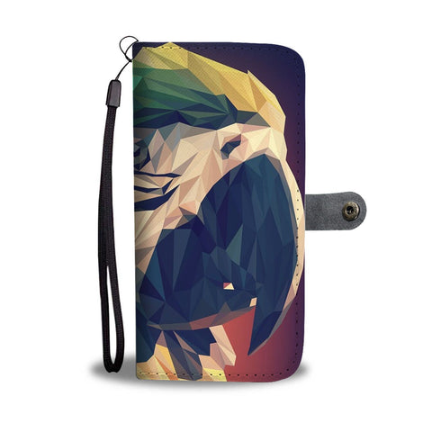 Blue And Yellow Macaw Parrot Vector Art Print Wallet Case-Free Shipping