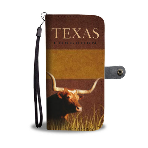 Amazing Texas Longhorn Cattle (Cow) Print Wallet Case-Free Shipping