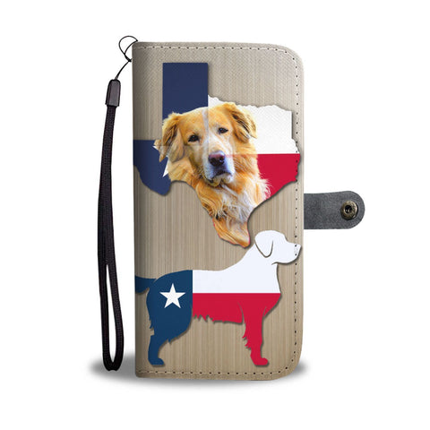 Cute Golden Retriever Dog Print Wallet Case-Free Shipping-TX State