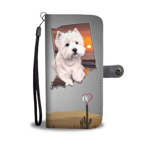 West Highland White Terrier Print Wallet Case-Free Shipping-IN State