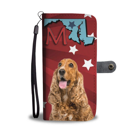 Cocker Spaniel Print Wallet Case-Free Shipping-MD State