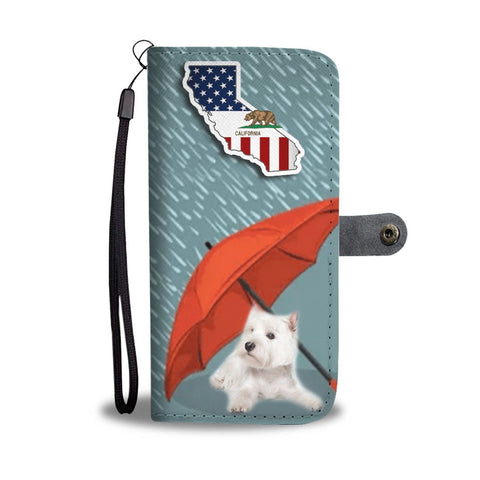 Westie Print Wallet Case-Free Shipping-CA State