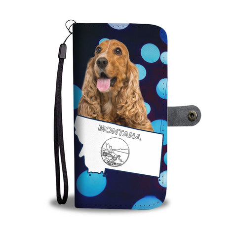 Cocker Spaniel Print Wallet Case-Free Shipping-MT State