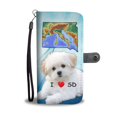 Lovely Maltese Dog Print Wallet Case-Free Shipping-SD State