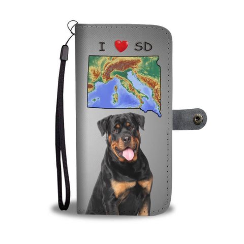 Rottweiler Dog Print Wallet Case-Free Shipping-SD States