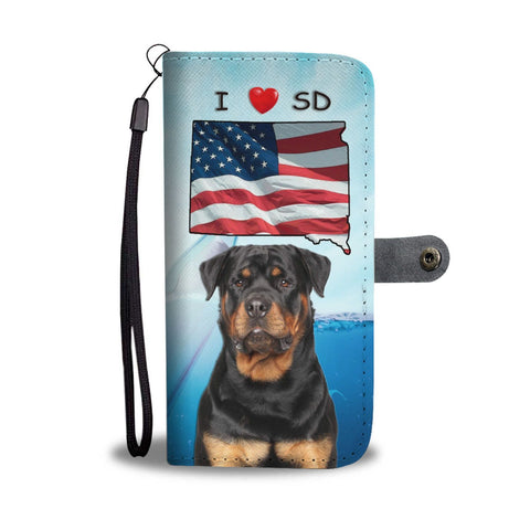 Cute Rottweiler Dog Print Wallet Case-Free Shipping-SD States