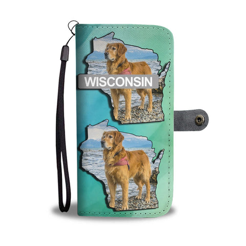 Golden Retriever Dog Art Print Wallet Case-Free Shipping-WI State