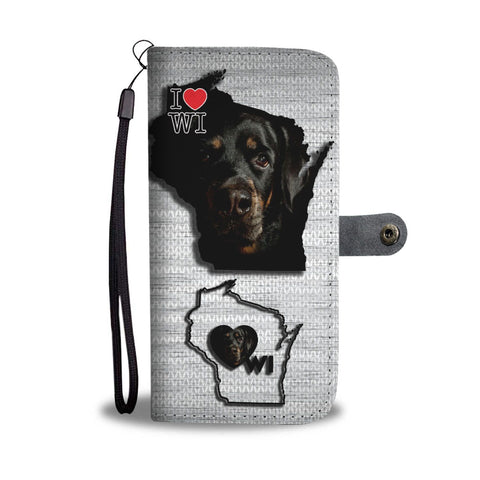 Amazing Rottweiler Print Wallet Case-Free Shipping-WI State