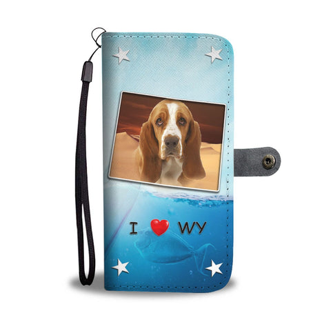 Basset Hound Print Wallet Case-Free Shipping-WY State