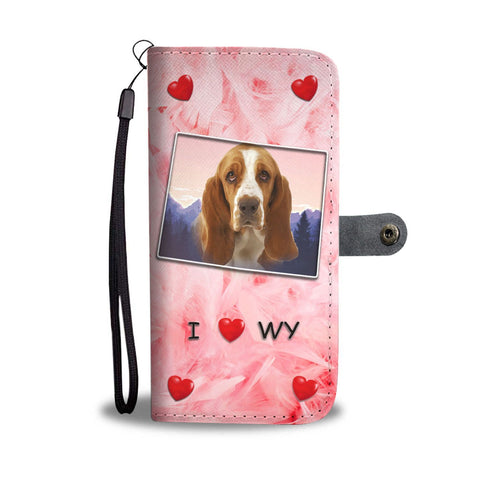 Lovely Basset Hound Print Wallet Case-Free Shipping-WY State
