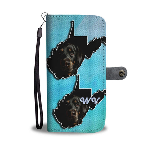 Amazing Rottweiler Print Wallet Case-Free Shipping-WV State