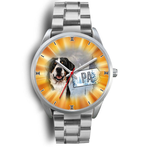 Greater Swiss Mountain Dog Pennsylvania Christmas Special Wrist Watch-Free Shipping