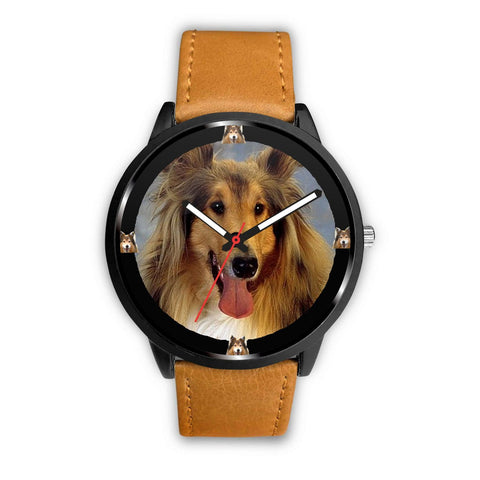 Amazing Rough Collie Dog Print Wrist Watch-Free Shipping
