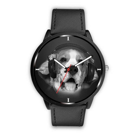 Beagle Enjoying Music Print Wrist Watch- Free Shipping