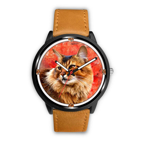 Somali Cat Art Print Wrist watch - Free Shipping