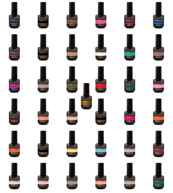 COMPLETE GEL COLOUR COLLECTION - EXCLUDES LAMP