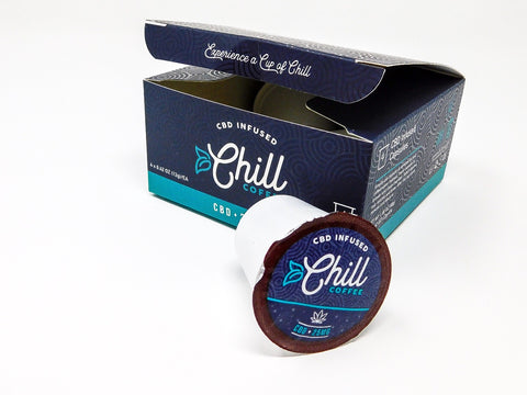 Chill CBD Coffee- 4-pack, 25mg