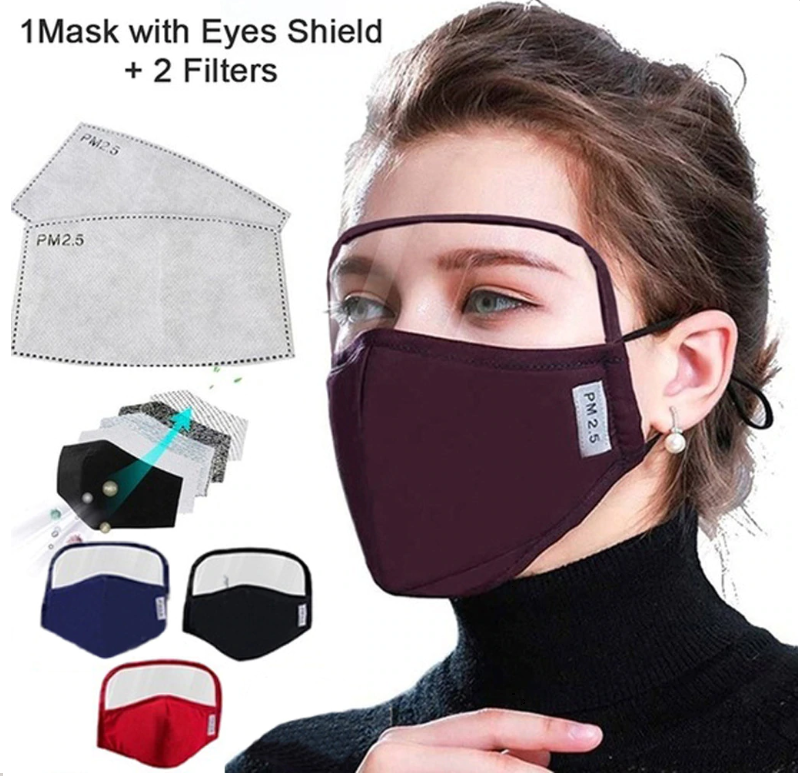 PROTECTIVE FACE MASK WITH EYES SHIELD