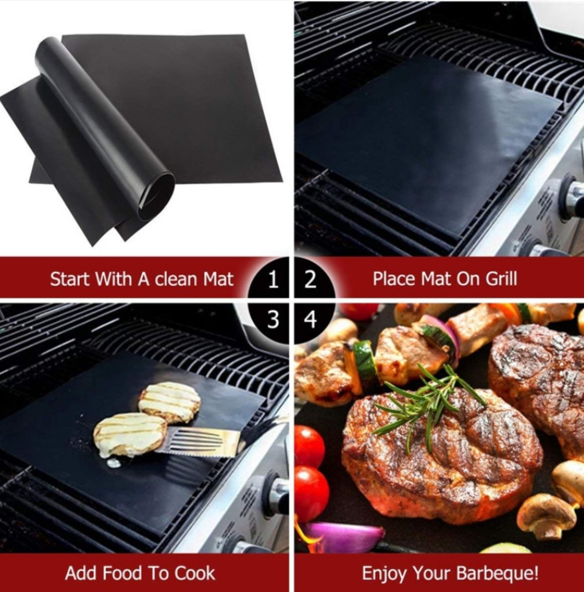 MAGIC GRILL MAT 3-unids