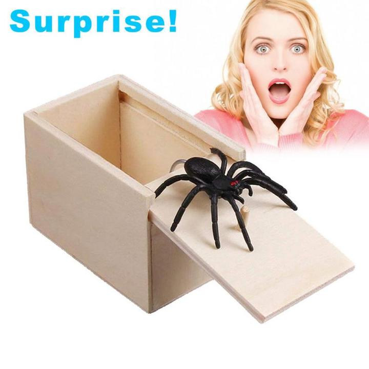 50% Off For a Limited Time-Prank Scare Spider Box