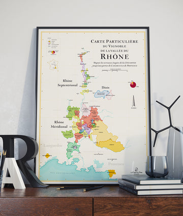 Wine Map Of the Rhone Valley