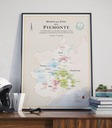 Wine Map of Piedmont