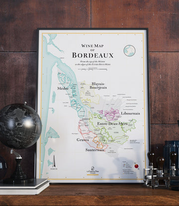 Wine Map Of Bordeaux