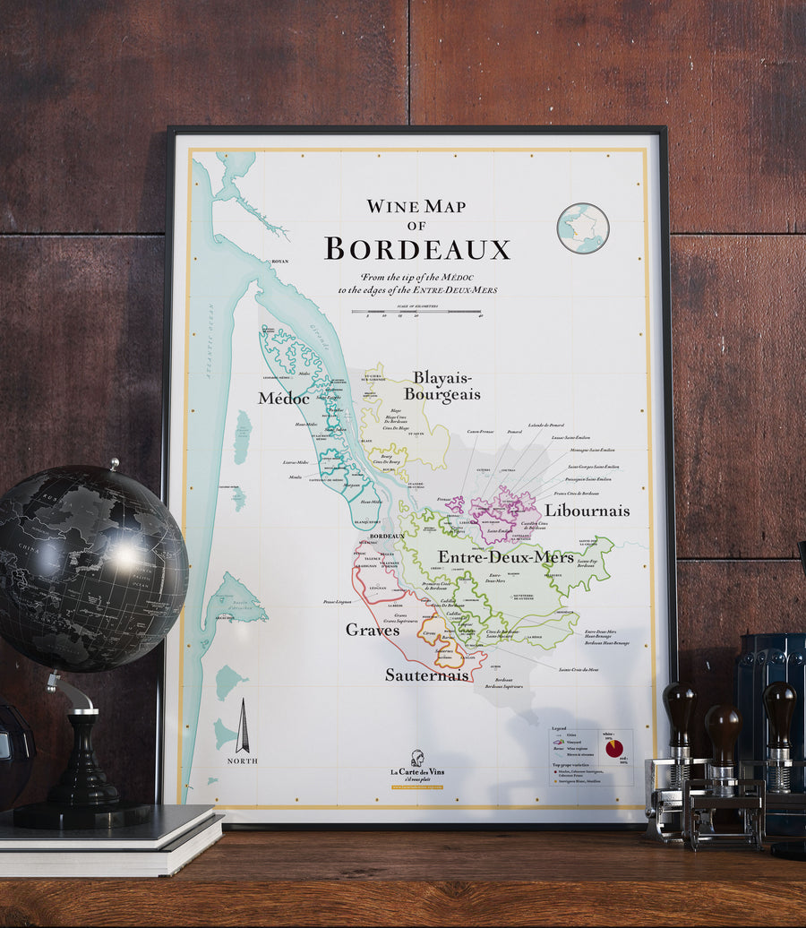 wine map of bordeaux vineyard medoc saint emilion