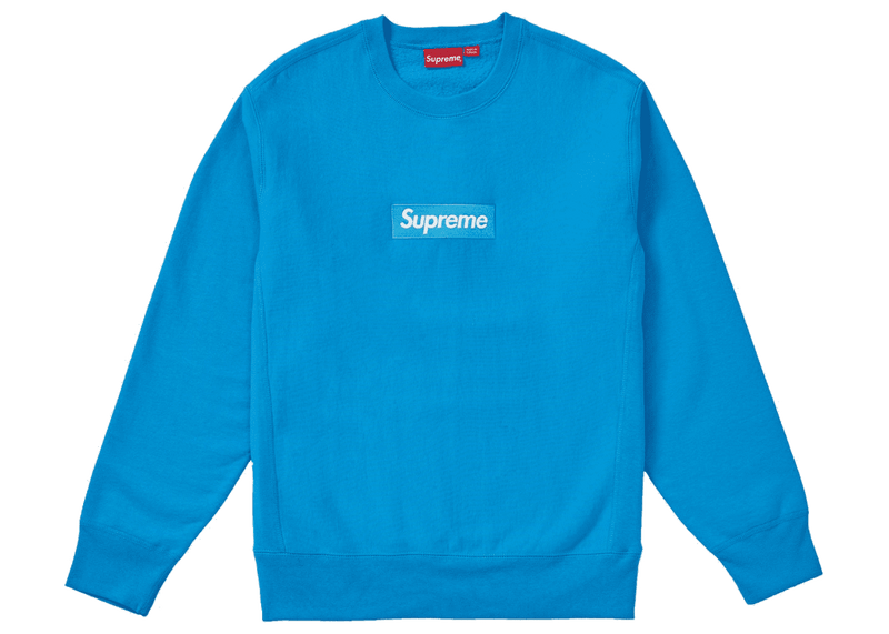 Supreme Box Logo Crewneck (2018) Blue