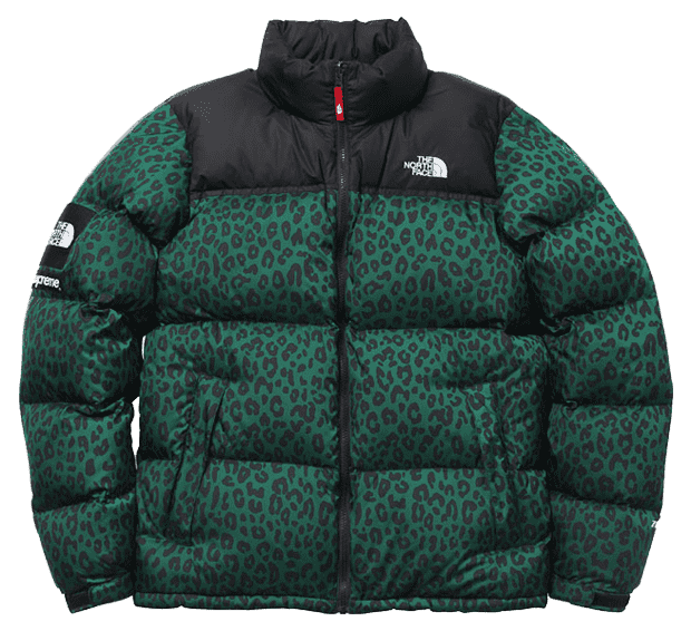 Supreme x The North Face Green Leopard Nuptse (2011)
