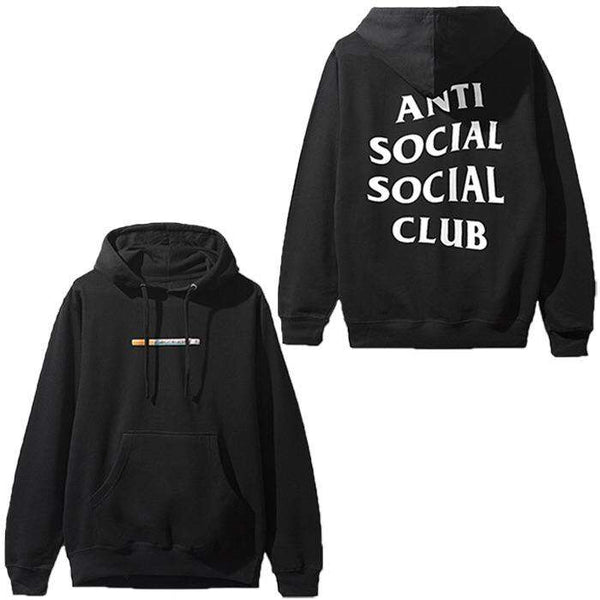Anti Social Social Club Cig Hoodie Black