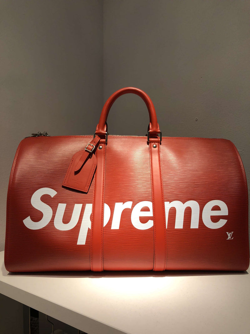 Louis Vuitton x Supreme Keepall Bandouliere 45 Red