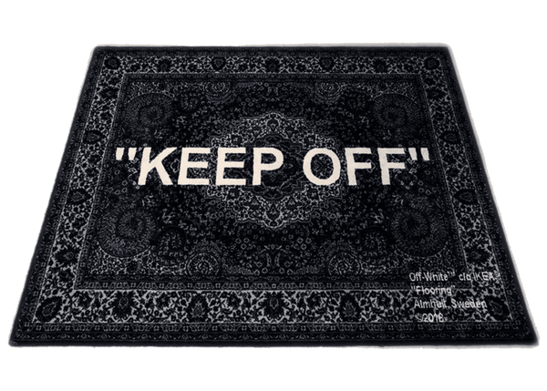 "Off-White x Ikea ""Keep Off"" Rug Black/White"