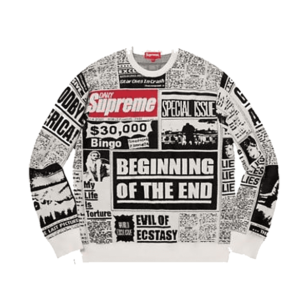 Supreme Newsprint Crewneck