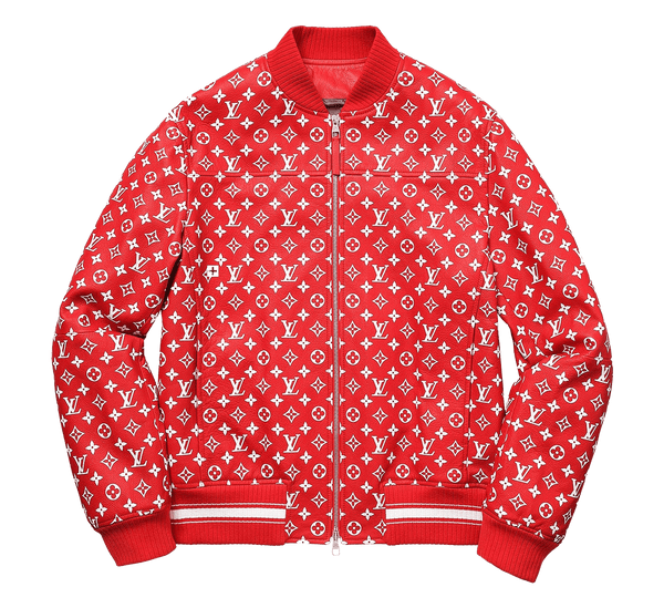 Supreme x Louis Vuitton Leather Monogram Bomber Jacket