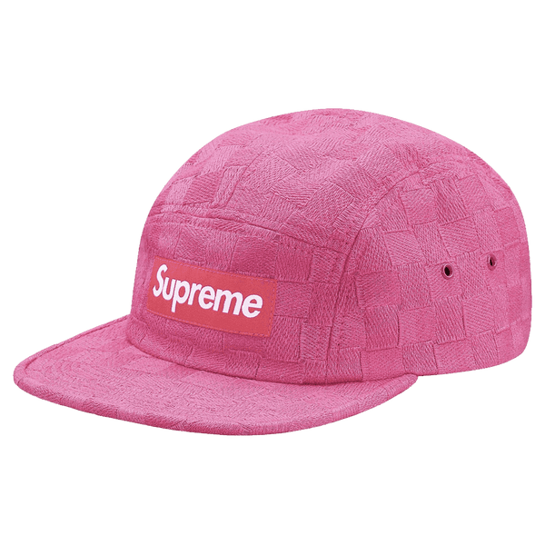 Supreme Checkered Box Logo Pink Cap