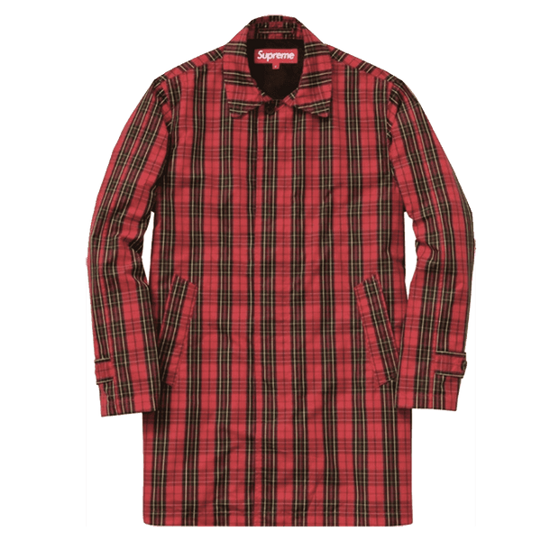 Supreme Plaid Trench Coat