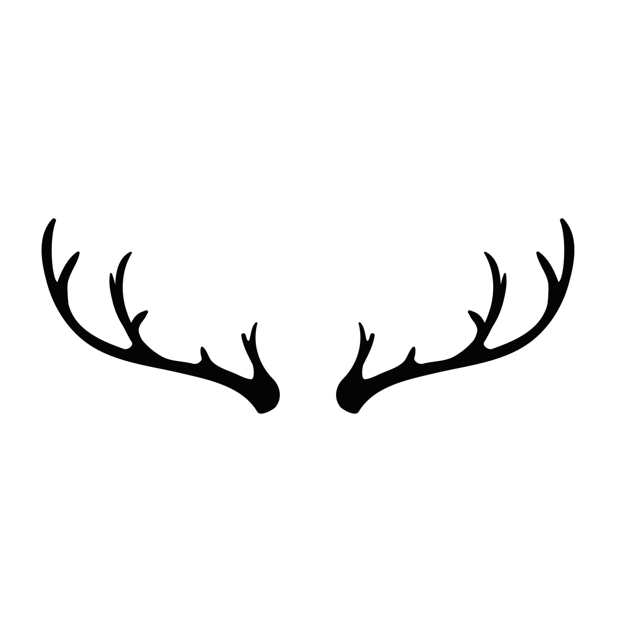 Antlers_Min Temporary Tatoo Design. Tags: Minimal, Black and White, Nature, Animals