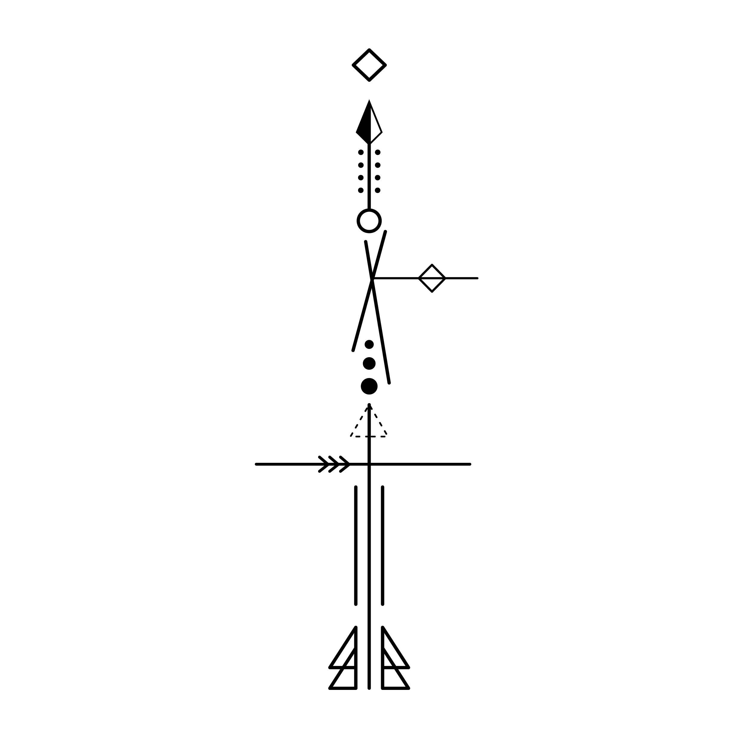 Arrow3 Temporary Tatoo Design. Tags: Minimal, Black and White, Patterns, Arrows