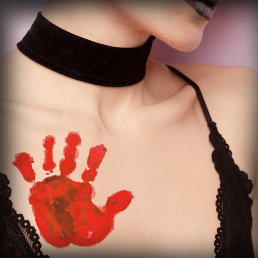 Blood Hand Temporary Tattoo