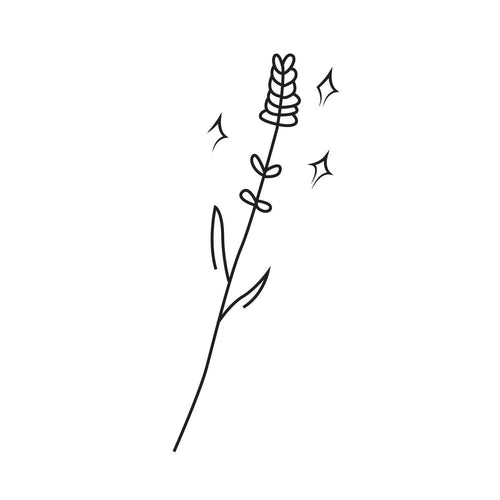 Bright Temporary Tatoo Design. Tags: Minimal, Black and White, Nature, Flowers