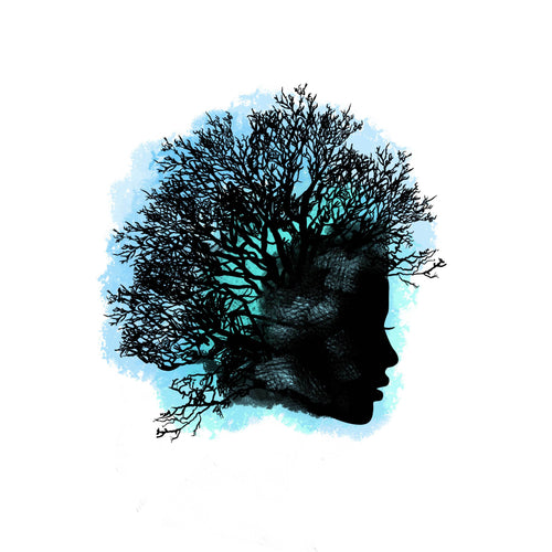 Tree Fro Temporary Tatoo Design. Tags: Nature, Watercolor, Color,