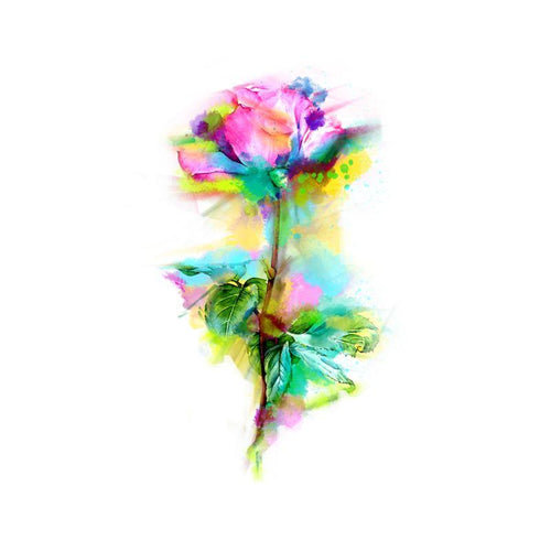 Floral Life Temporary Tatoo Design. Tags: Flowers, Watercolor, , , Unisex, Color, New