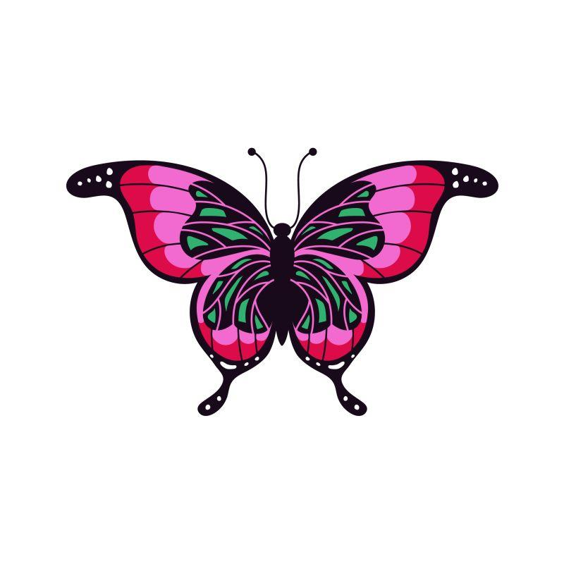 Red Butterfly Temporary Tatoo Design. Tags: Animals, Nature, , , Womens, Color, New