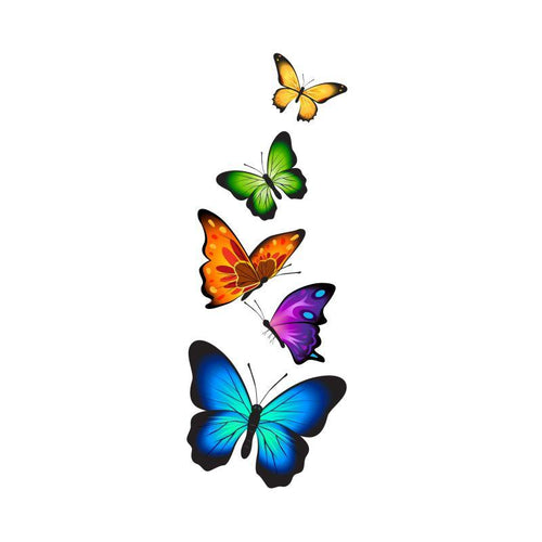 Group of Butterflies Temporary Tatoo Design. Tags: Nature, Animals, , , Womens, Color, New