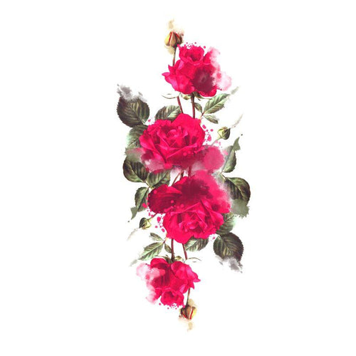 Splendid Rose Temporary Tatoo Design. Tags: Flowers, Watercolor, , , Unisex, Color, New